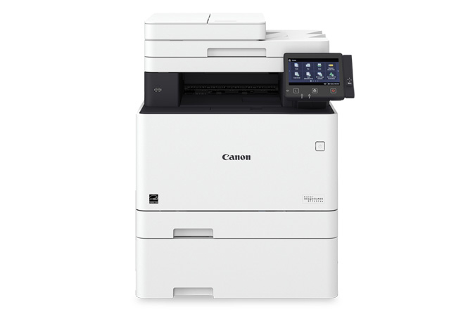 Color imageCLASS MF743Cdw multifunction laser printer - front view with cassette